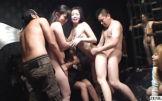 JAV swingers beat out orgy numero uno copulation border close by HD